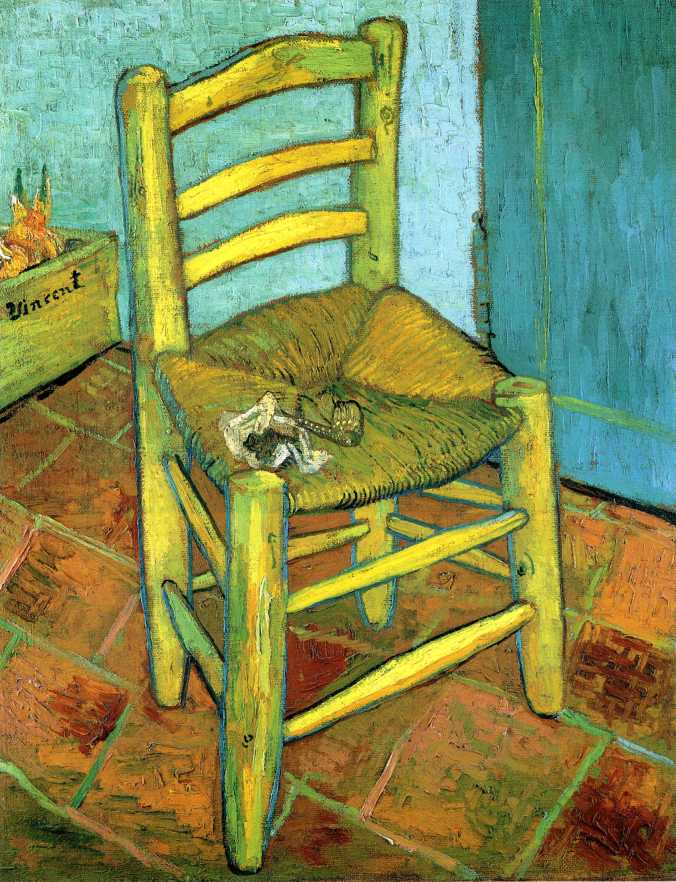 Vincent's Chair With His Pipe, Van Gogh, 1888
